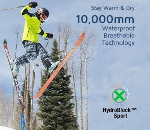 Waterproof breathable ski wear