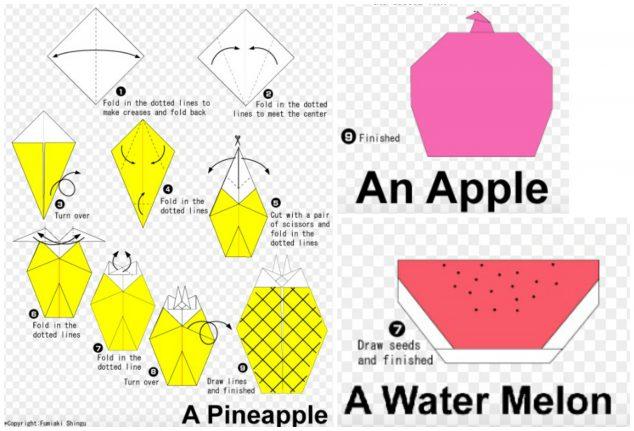 easy origami kids fruit