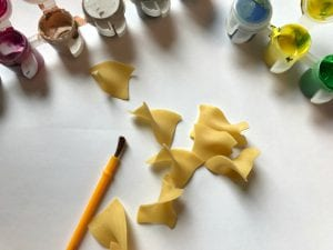 Super Cute Painted Pasta Flower Art Craft for Kids
