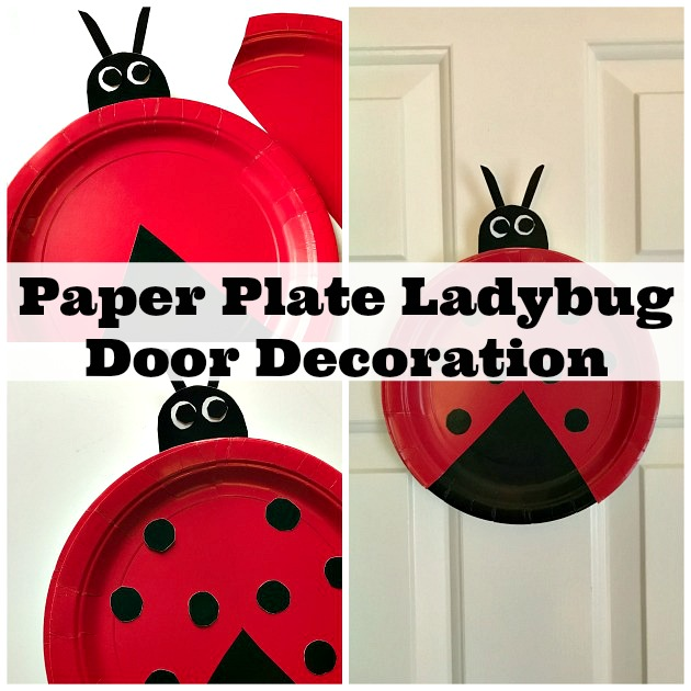 This Paper Plate Ladybug Craft For Preschoolers Makes A Great Door Decoration. Save. Paper Plate Ladybug ...  sc 1 st  Family Focus Blog & Easy Paper Plate Ladybug Craft for Preschoolers | Family Focus Blog