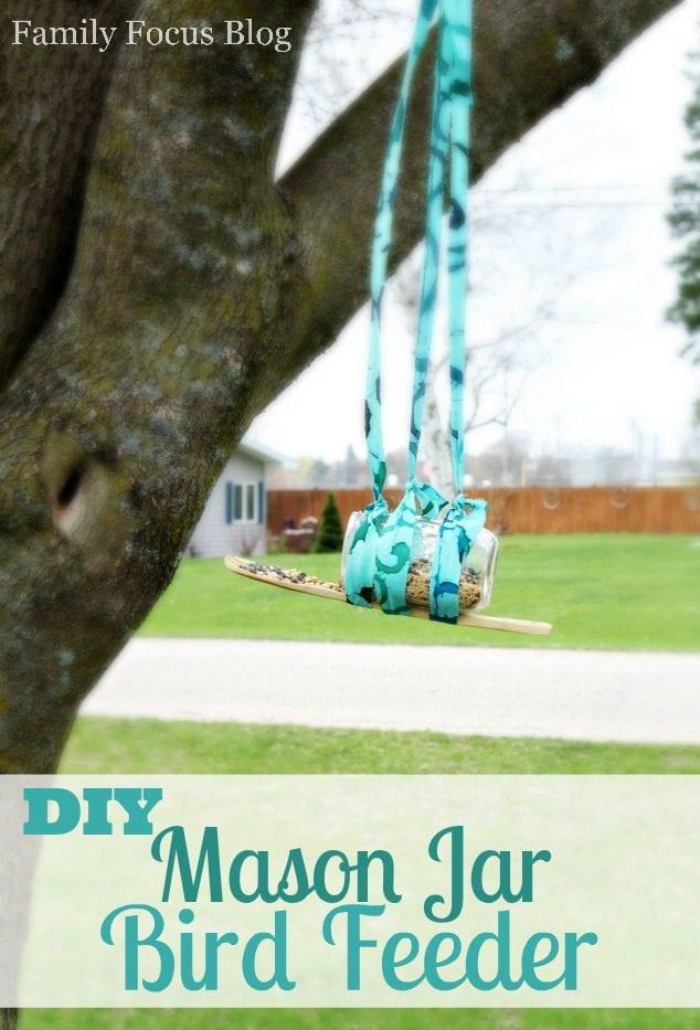 DIY Mason Jar Bird Feeder