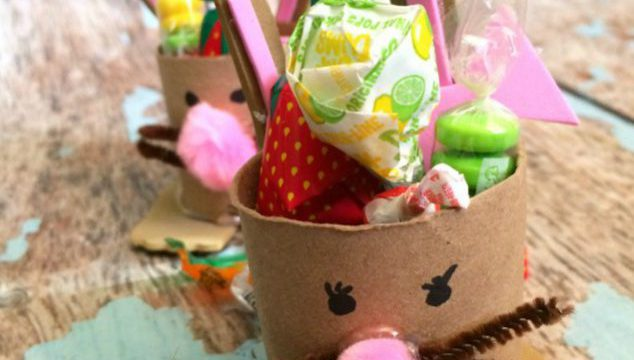 Bunny Toilet Paper Tube Crafts- Easter Treat Holders