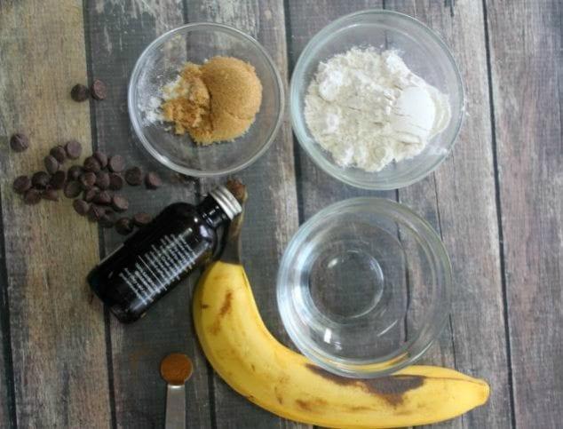 banana bread mug cake ingredients
