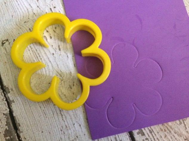 craft foam flower impression