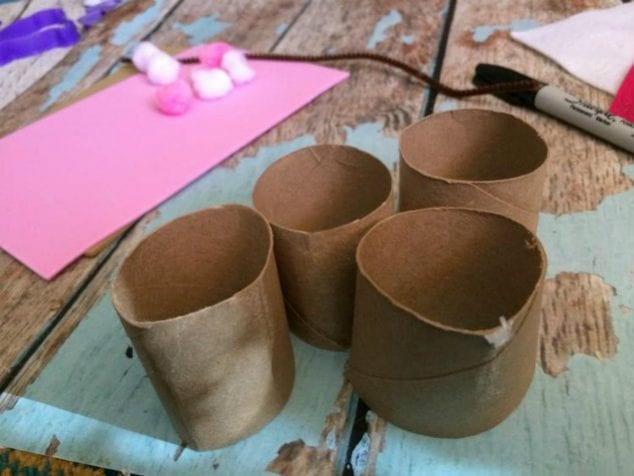 Bunny toilet paper tube crafts easter treat holders for Tissue tube crafts