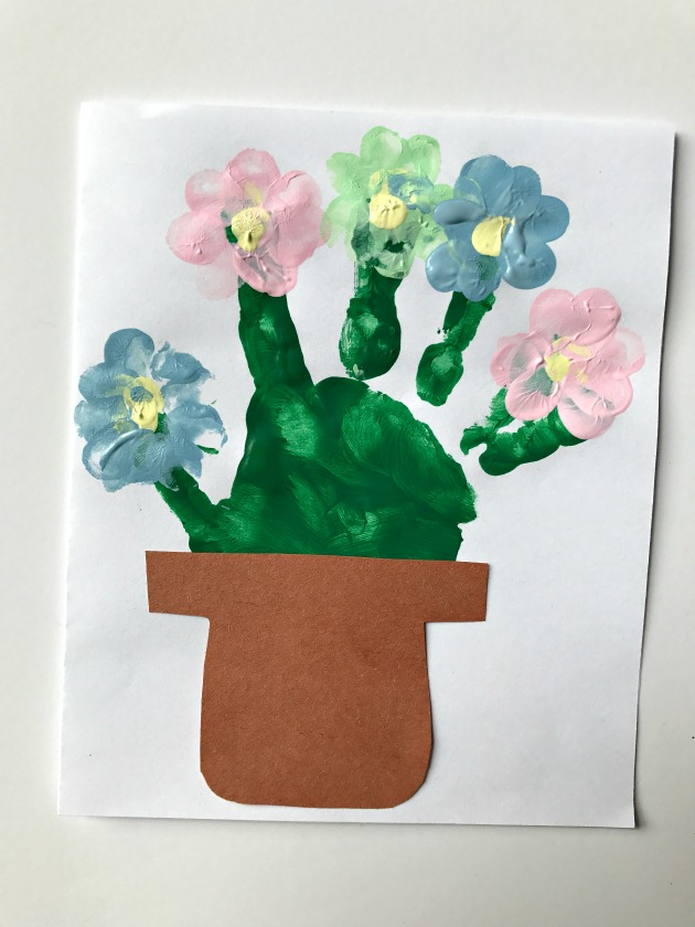 Handprint Flower Card Craft