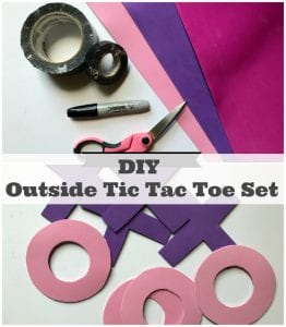 Try This Fun DIY Outdoor Tic Tac Toe Board Game