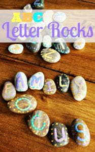 Fun Painted Rocks Crafts: Make ABC Letter Rocks