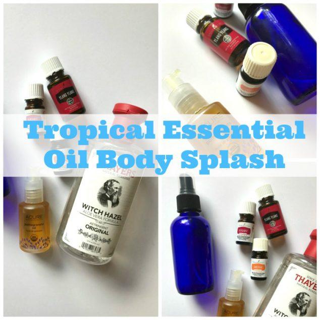 essential oil body spray recipe- diy essential oil body spray- tropical