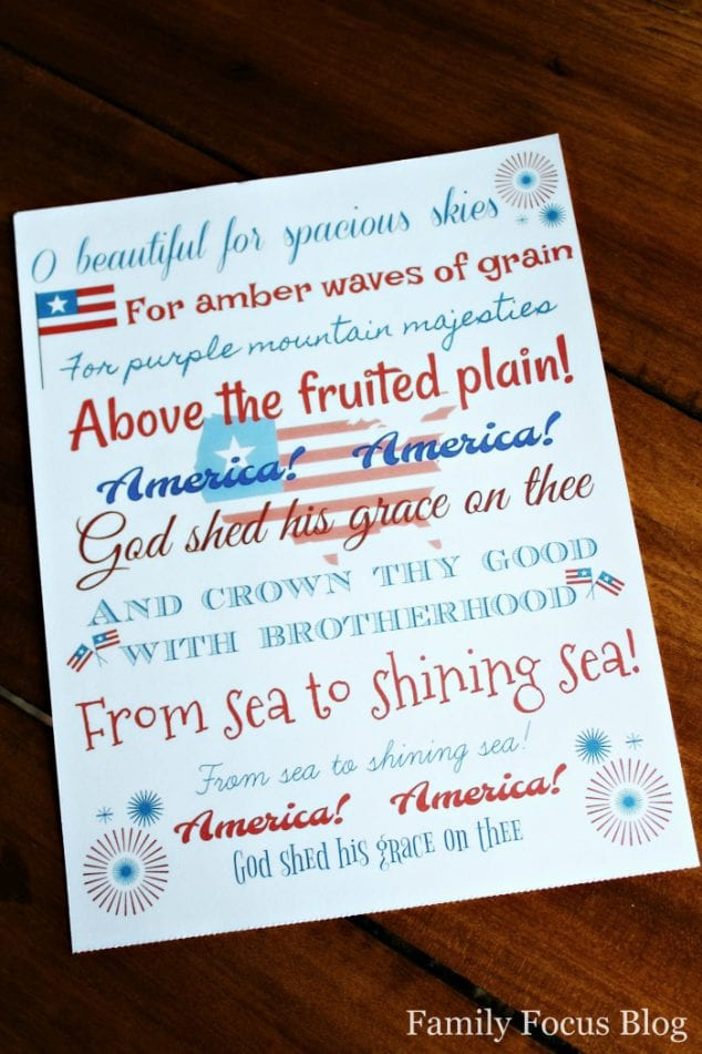 Printable 4th of July Decoration