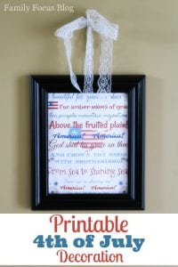 Fun & Patriotic Printable 4th of July Decorations