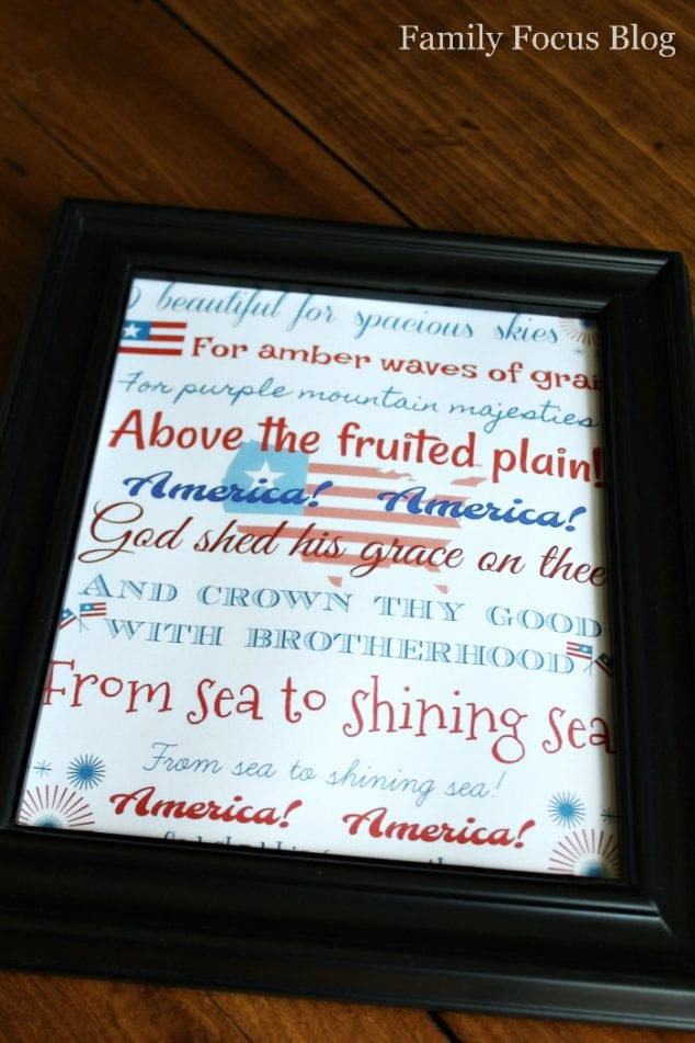 4th of July Decoration Printable