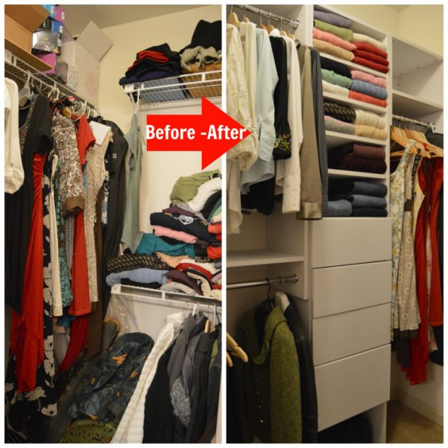 before and after closet makeover photo