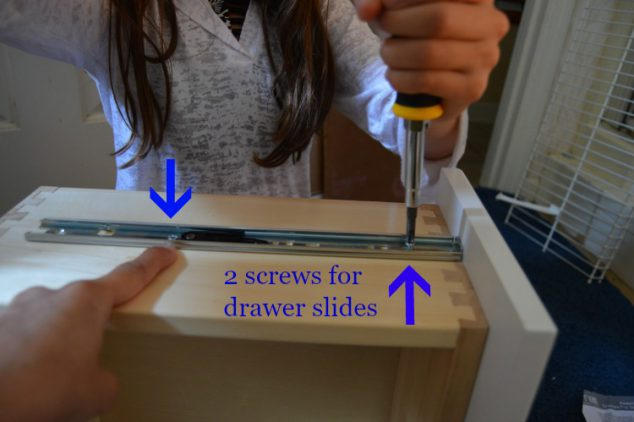screws for drawer slides