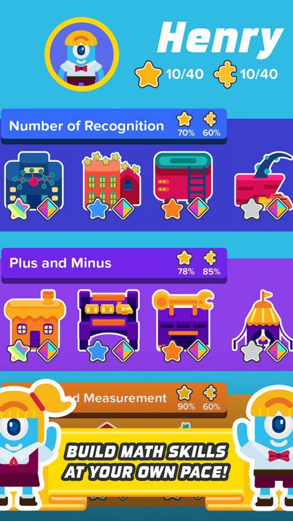 number recognition app- kindergarten math activities