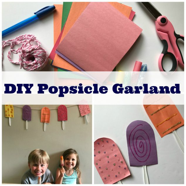popsicle garland craft