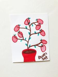DIY Apple Tree Magnet: Fingerprint Art Kids Will Love