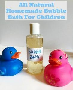 Homemade Natural Bubble Bath Recipe For Children