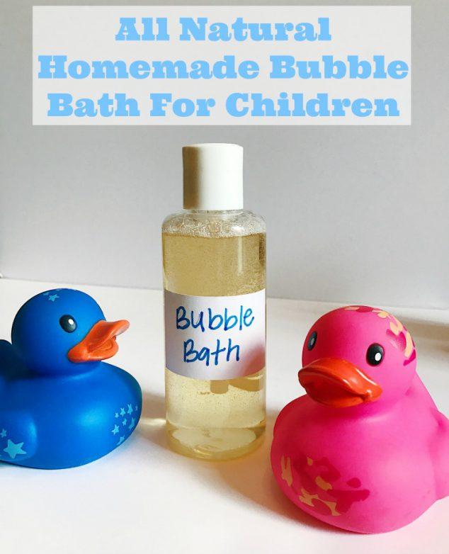 homemade natural bubble bath