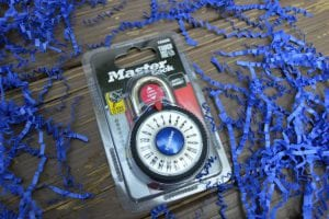 magnification combination lock