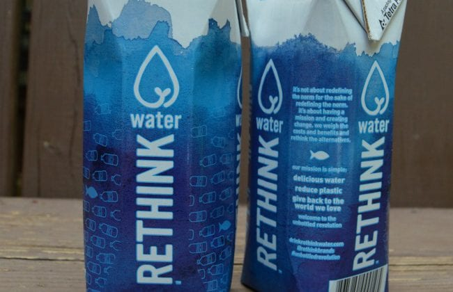 Try A Sustainable Water Carton From RETHINK Water!