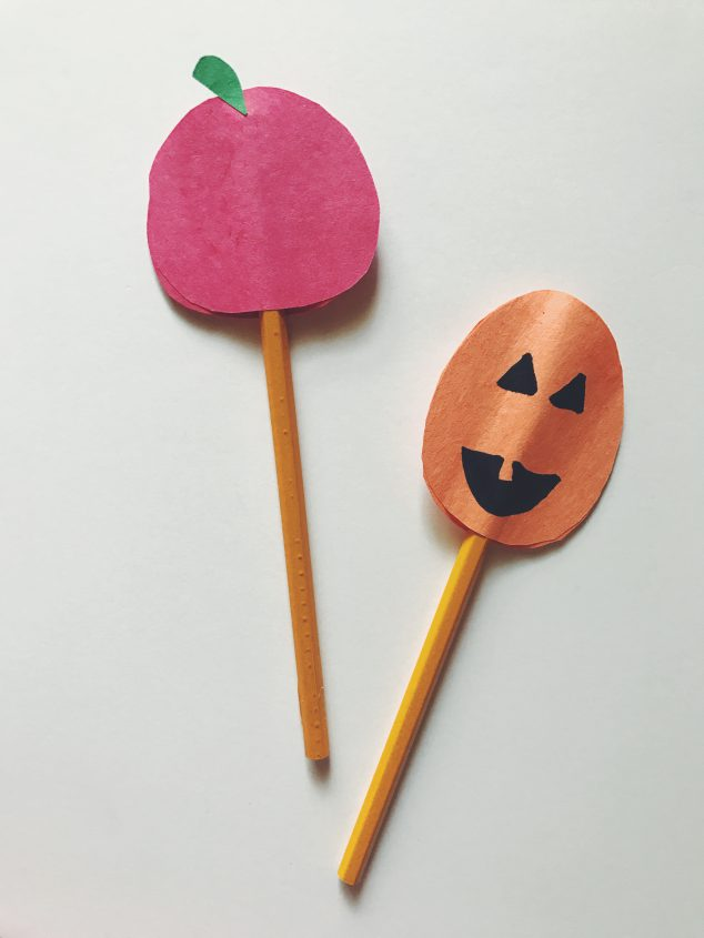 how to make pencil toppers-halloween pencil toppers