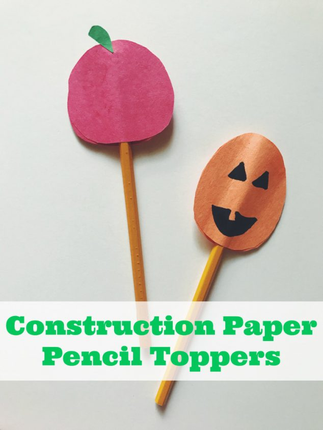 fall pencil toppers