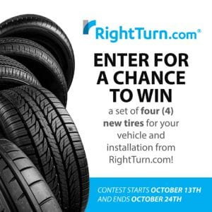 right turn tire giveaway