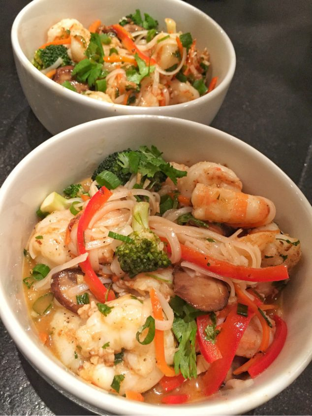 Shrimp And Red Curry Noodles Recipe