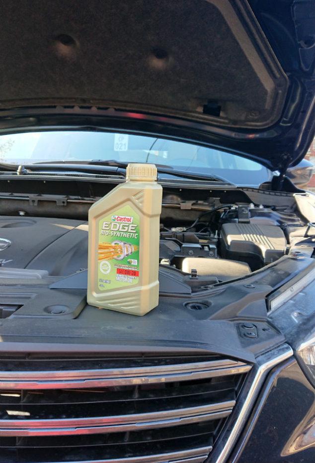 bio motor oil under hood