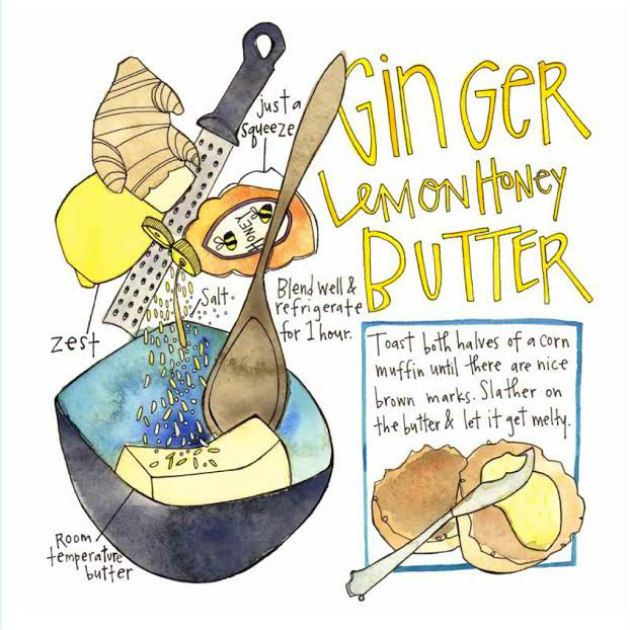 ginger lemon honey butter