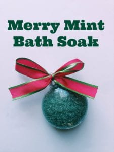 Merry Mint Easy Bath Salts Recipe- Perfect For Christmas DIY Gifts
