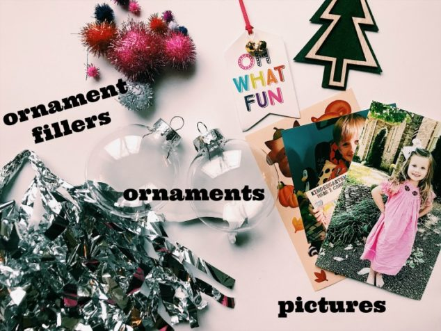 plastic ball photo ornaments