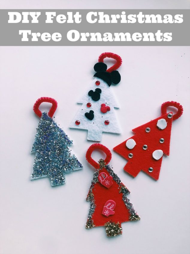 easy diy felt christmas ornaments tutorial