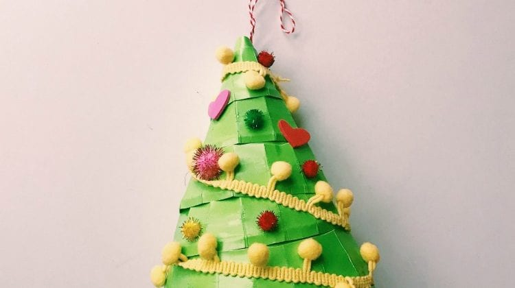 Easy Christmas Craft Kids Will Love: Paper Plate Christmas Tree