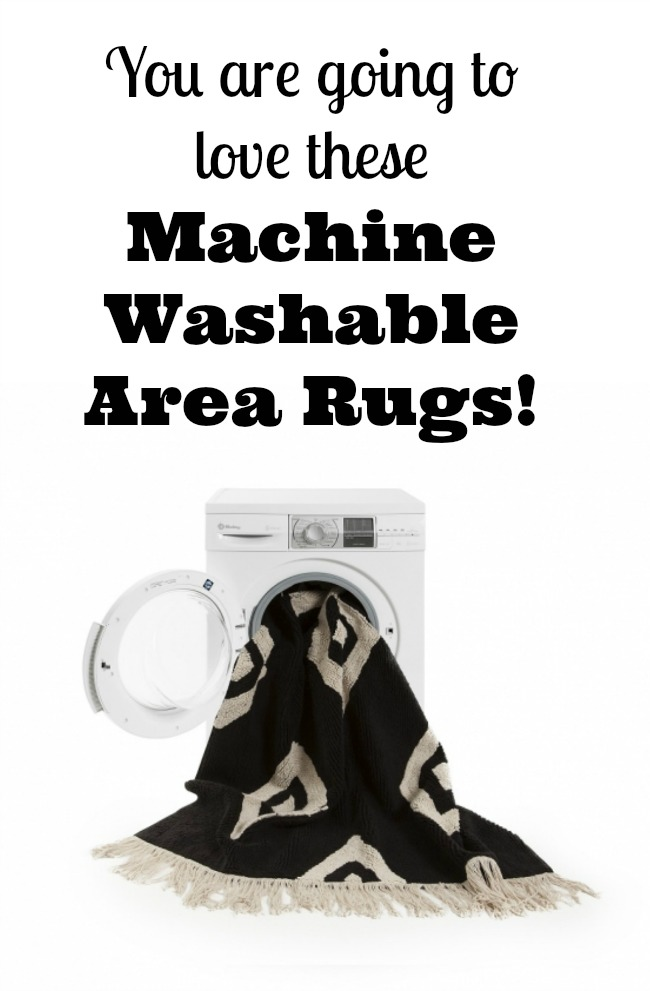 Machine Washable Area Rugs