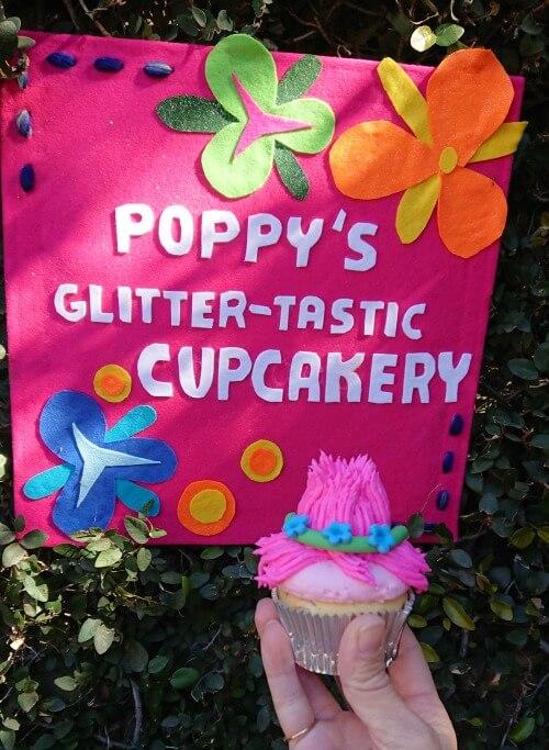 Trolls Birthday Party Cupcake