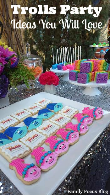 Trolls Birthday Party Ideas Rainbow Sparkly Fun Family Focus Blog