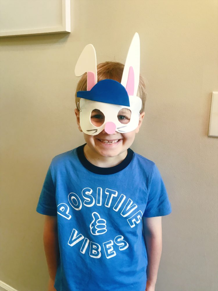 make easter bunny mask