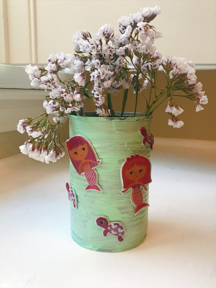 How To Make A Flower Vase Out Of A Tin Can Family Focus Blog