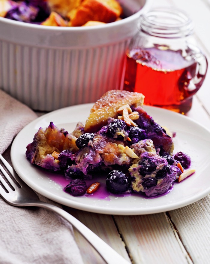 Blueberry Almond French Toast Casserole