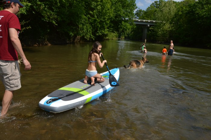river paddle board