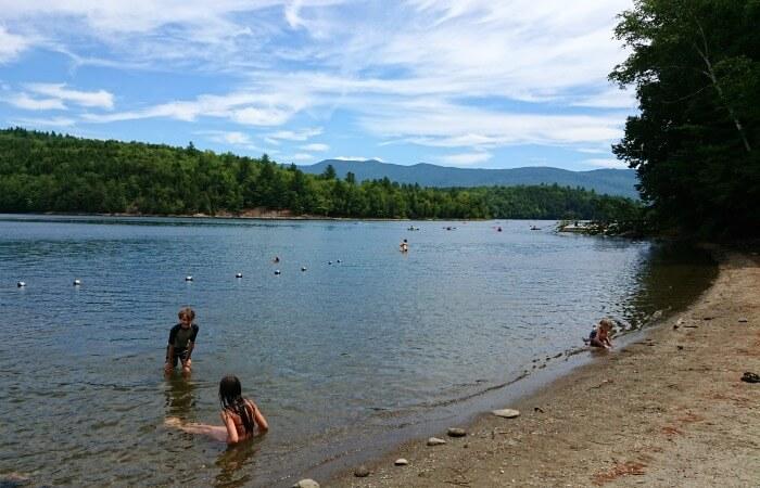 Little River Vermont Campground Beach
