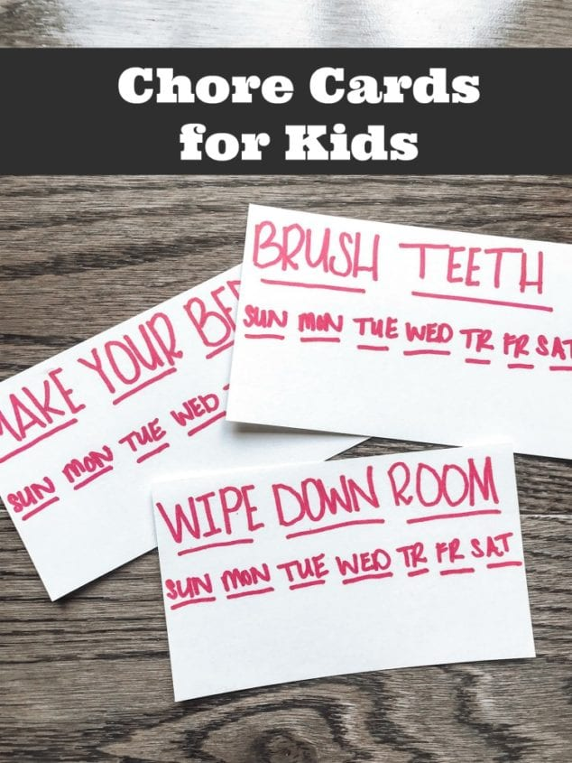 chore cards for kids