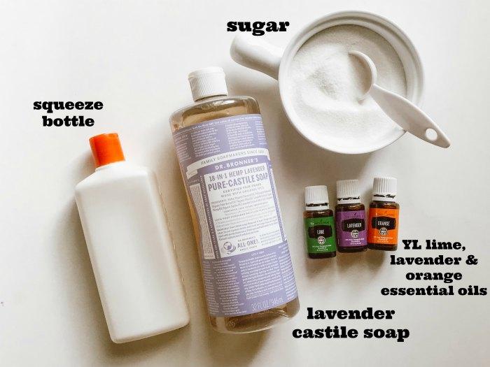 Homemade DIY Exfoliating Body Wash