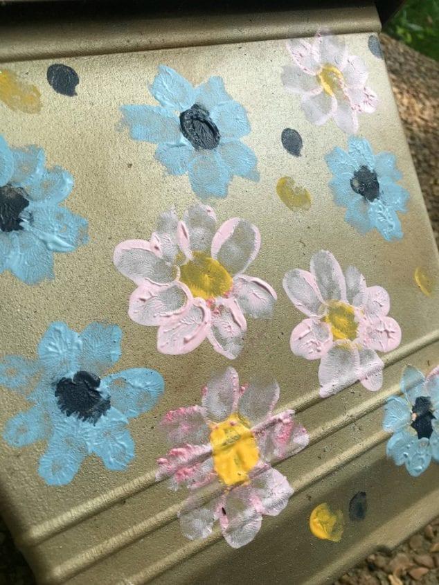 decorative painted flower pots