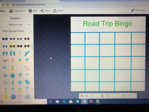 make your own bingo board