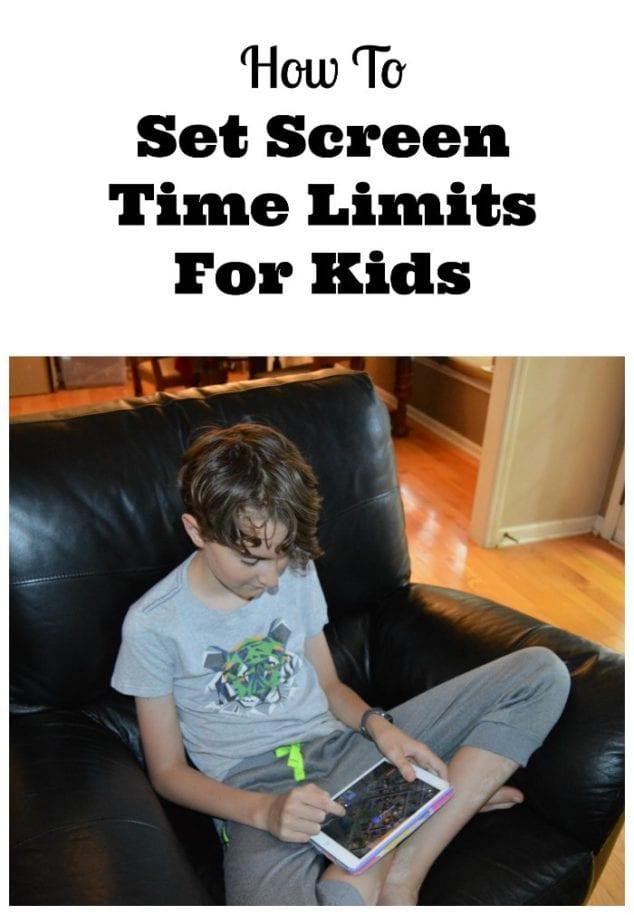screen time limits kids