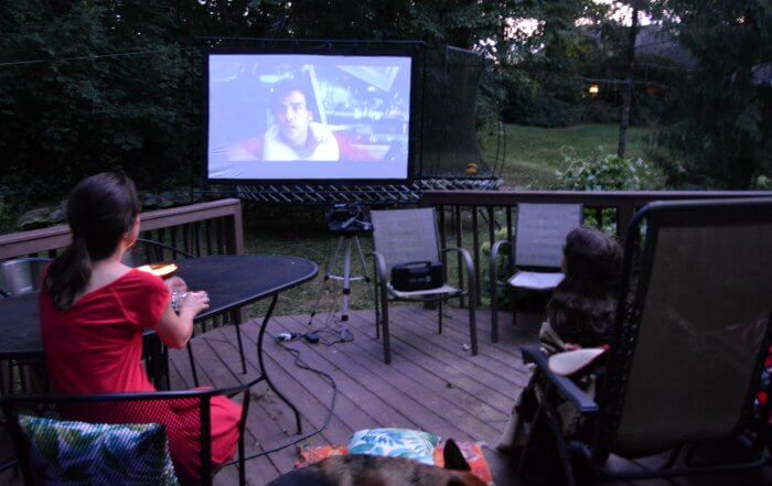 outdoor movie theater system